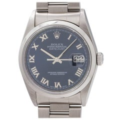 Rolex Stainless Steel Datejust self winding Wristwatch Ref 16200, circa 2002