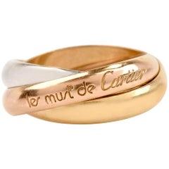 Cartier Trinity de Cartier Tri-Color Gold Wedding Band Rolling Ring