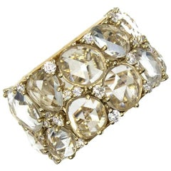 Pomellato Lulu White Topaz Diamond Wide Band Ring