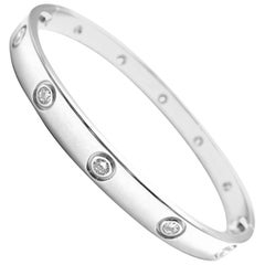 Cartier Ten Diamond White Gold Love Bangle Bracelet