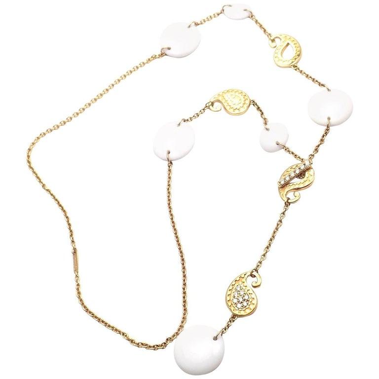 Carrera Y Carrera Aqua Diamond Kogolong Yellow Gold Necklace