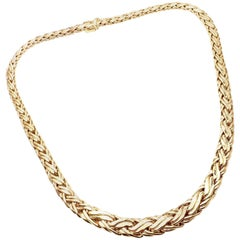 Tiffany & Co. Russian Weave Gradual Link Yellow Gold Necklace