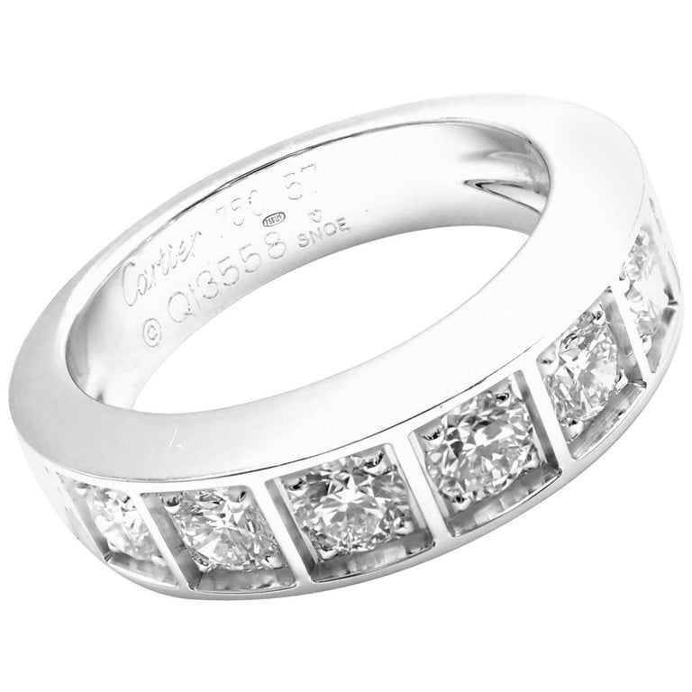Cartier Diamond White Gold Band Ring