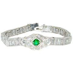 Emerald and Diamond Bracelet, circa 1938