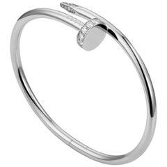 Cartier Juste un Clou Diamond and White Gold Bangle Bracelet