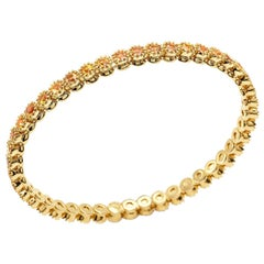 Nomad Collection 18 Karat Yellow Gold Bracelet in Yellow Sapphire