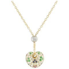 Leo Pizzo Multi-Gemstone Heart Pendant