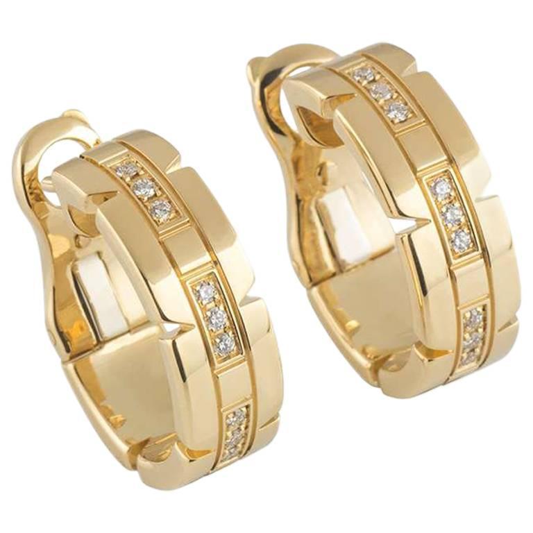 Cartier Tank Francaise Diamond Earrings