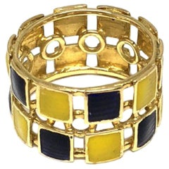 Gucci Gold and Enamel Ring