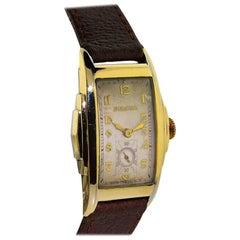 Bulova Yellow Gold Filled Art Deco Curvex Manual Wristwatch, 1930s