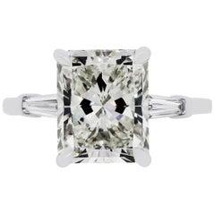 GIA Certified 5.07 Carat Radiant Diamond Ring