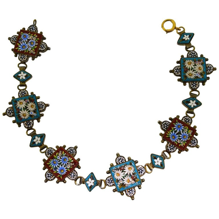 Handmade Middle Eastern Mosaic Full Length Bracelet a Great Hand Crafted Gift