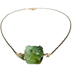 Emerald Jaguar Necklace