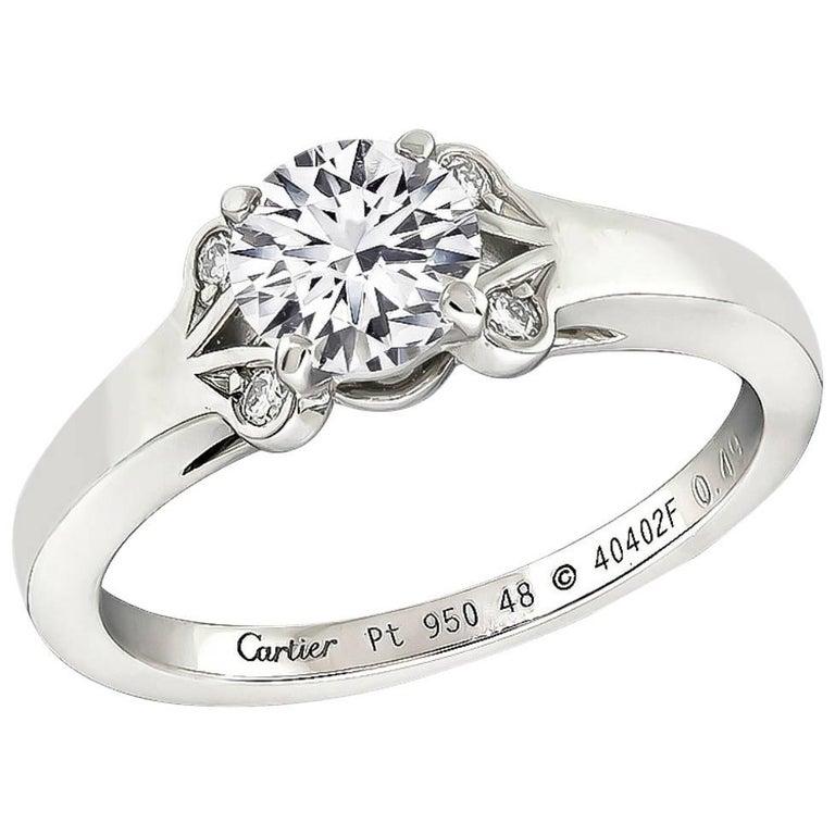 Cartier 0.49 Carat Diamond Engagement Ring