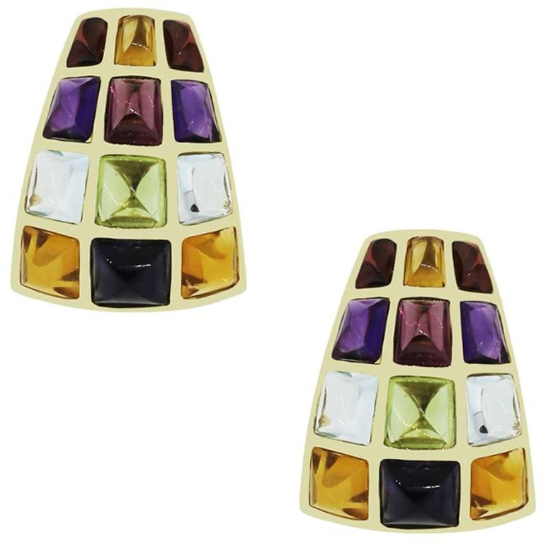 Laura Munder Cabochon Gemstone Earrings