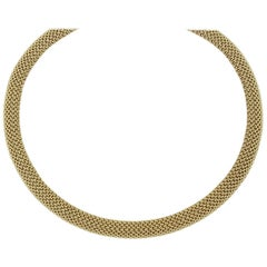 "18"" Gold Mesh Necklace"