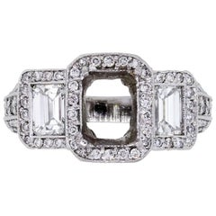 Emerald Cut Diamond Ring Mounting