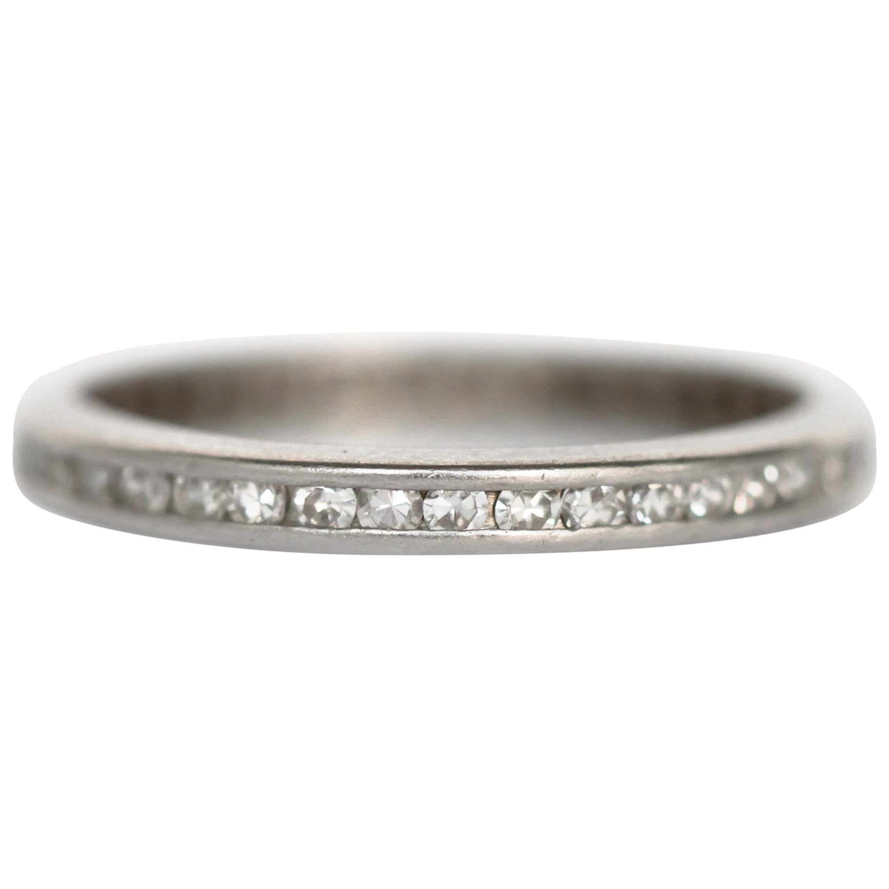 1920 Art Deco .50 Carat, Total Weight Diamond Platinum Wedding Band