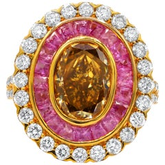 4.04 Carat Fancy Brown Diamond Ring