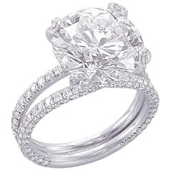 GIA Certified 5.09 Carat E-VS1 Engagement Ring