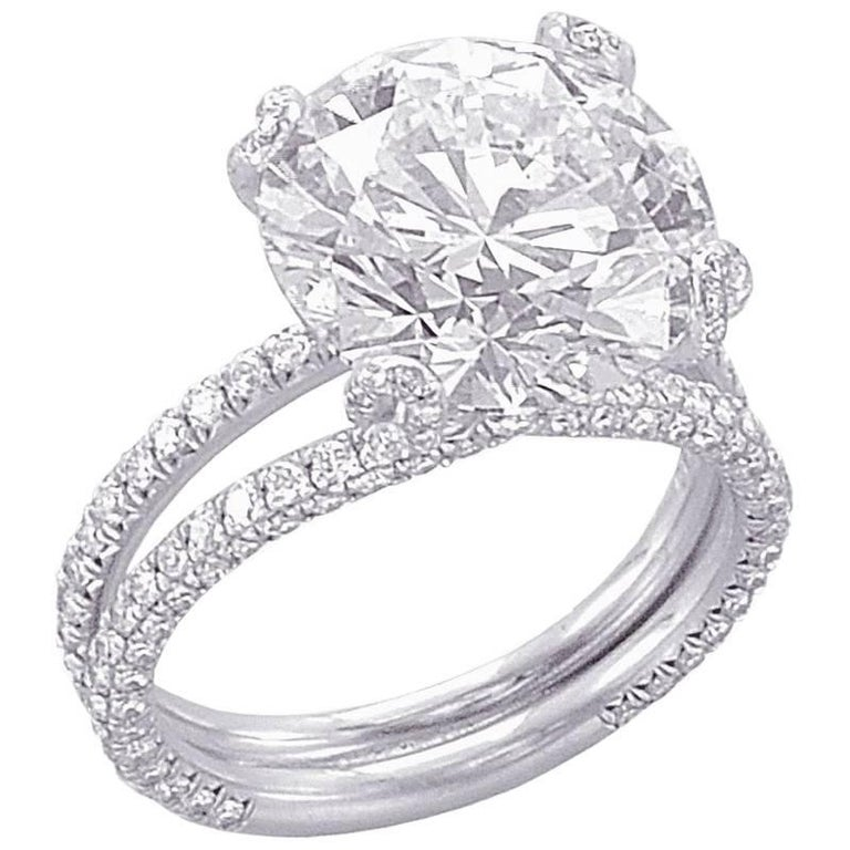 GIA Certified 5.09 Carat E-VS1 Engagement Ring For Sale