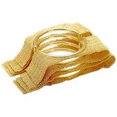 18 Karat Yellow Gold Oscar Set Foulard Collection