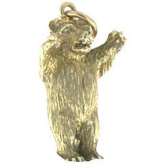 Bear Charm 18 Karat Yellow Gold
