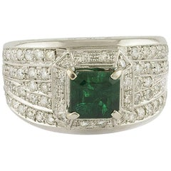 Emerald Diamonds White Gold Band Ring