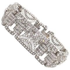 Platinum Antique Diamond Bracelet