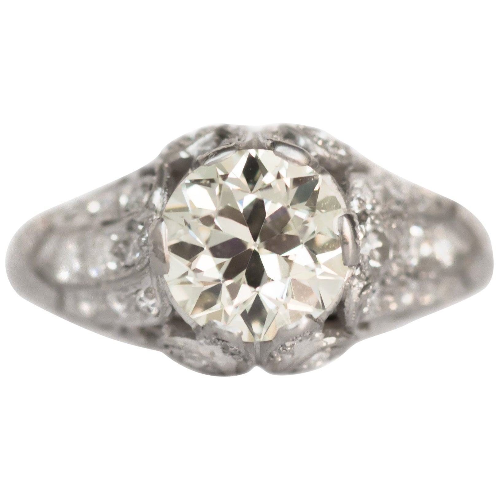 1.59 Carat Diamond Platinum Engagement Ring