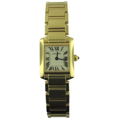 Cartier Ladies Yellow Gold Tank Francaise Wristwatch