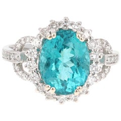 4.81 Carat Apatite Diamond Engagement Ring