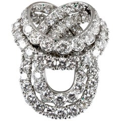 Important Cartier White Gold Diamond Bow Brooch
