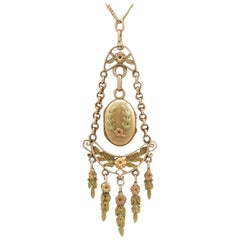 1880s Antique French Yellow and Rose Gold Locket