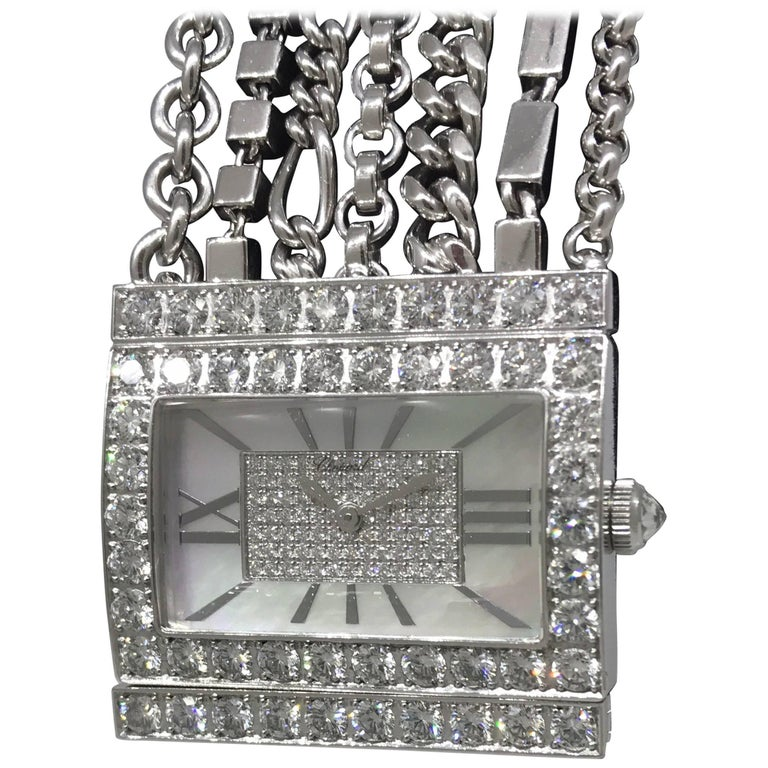 Chopard Boutique Special Edition White Gold and Diamond Bracelet Ladies Watch