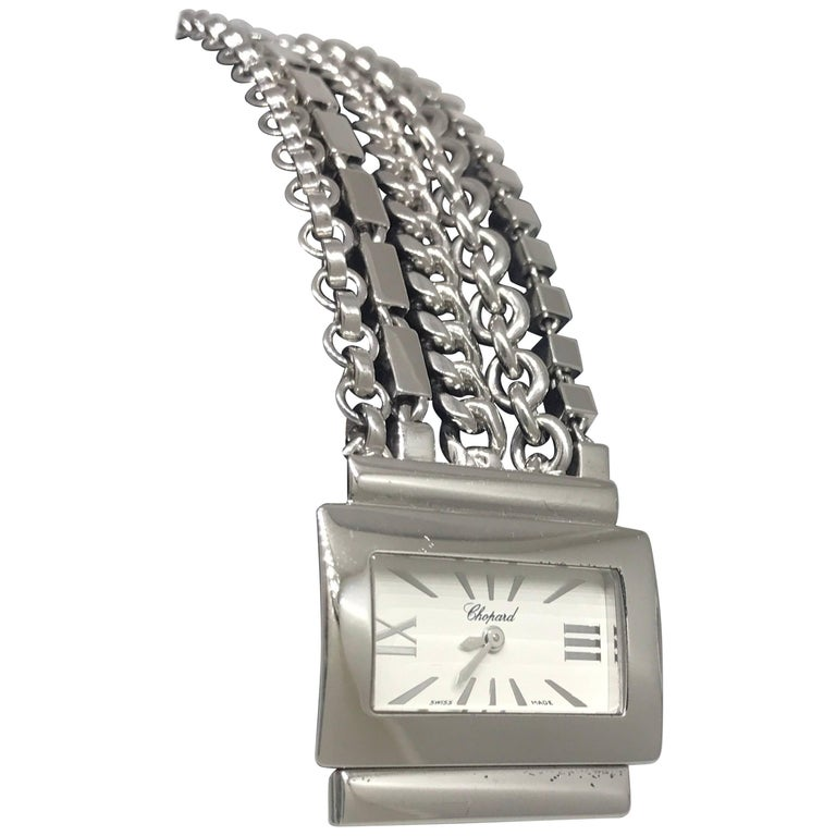 Chopard Classique 18 Karat White Gold White Dial Chains Bracelet Lady's Watch