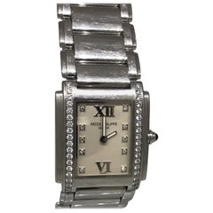 Patek Phillipe Twenty 4 Stainless Steel Diamond White Dial Lady's Watch 4910/10A