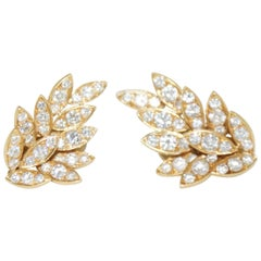 Diamond Clip-On Earrings Fred Paris