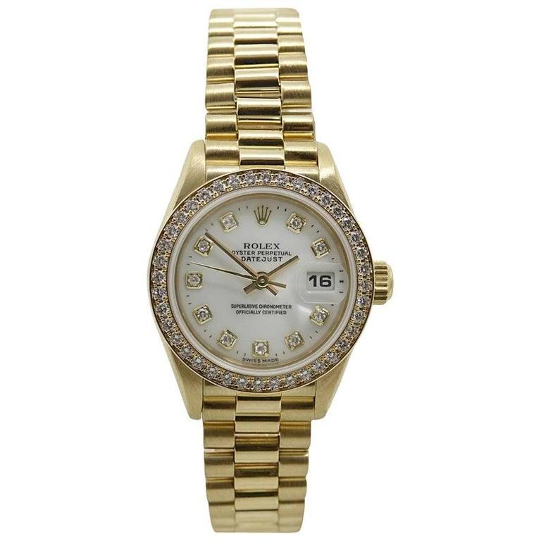 Rolex Yellow Gold Ladies President Model #69138, circa 1995