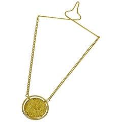 Piaget 18 Karat Yellow Gold Salvador Dalí Gold Coin Tie Bar