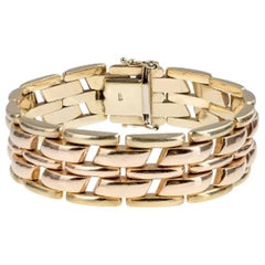 1940s Two-Toned Gold Wide Bracelet