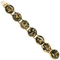 Victorian, circa 1880 Shakudo Bracelet