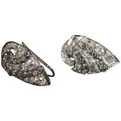 Art Deco Diamond and Platinum Earrings
