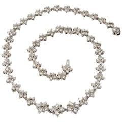 10.98 Carat Diamond X Link Platinum Necklace