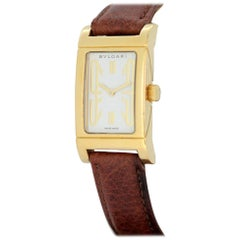 Bvlgari Rettangolo 18 Karat Yellow Gold Ladies Quartz Wristwatch, circa 1990s