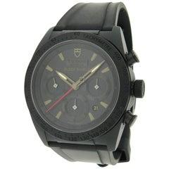 Tudor Ceramic Fastrider Black Shield Chronograph Self Winding Wristwatch