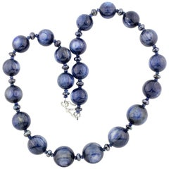Kyanite Necklace with Sterling Silver Clasp