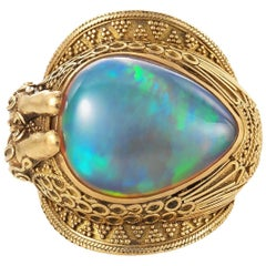 Carolyn Tyler Ramses Gold and Ethiopian Opal Ring
