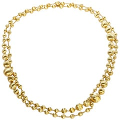Marco Bicego Triple Wave Necklace Africa Collection 18 Karat Yellow Gold