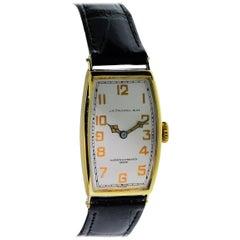 Vacheron Constantin for J.E.Caldwell Yellow Gold Manual Wristwatch, circa 1920s